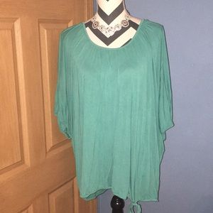 Teal banded tunic